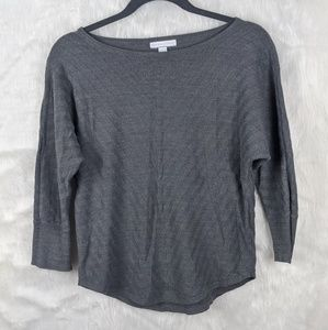 New York and company quarter sleeve gray top